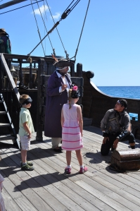 Lucas and Isabella involved in opening the treasure chest