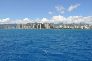 Waikiki and Honolulu from Pirate Ship