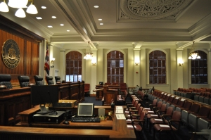 Current Hawaii State Supreme Court courtroom