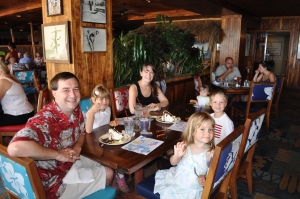 The family at Dukes on Waikiki
